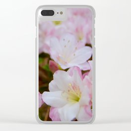 Blooming Azalea Flowers Clear iPhone Case