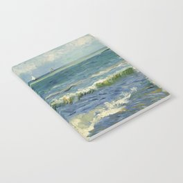 The Sea at Les Saintes-Maries-de-la-Mer by Vincent van Gogh Notebook