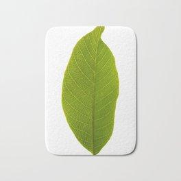 Abstract Realistic Vivid Green Leaf Artwork Design Bath Mat
