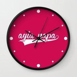 Ayia Napa EDM Quote Wall Clock