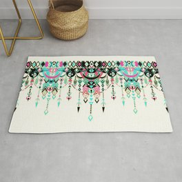 Modern Deco in Pink and Turquoise Rug