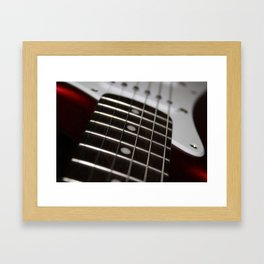 Red Stratocaster Framed Art Print