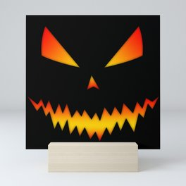 Cool scary Jack O'Lantern Halloween Mini Art Print