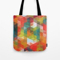transparent Tote Bags featuring Transparent Cubism by All Is One