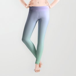 Mint Green and Lavender Ombre - Flipped Leggings