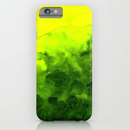 Green yellow abstract iPhone Case