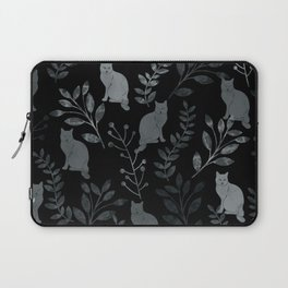Watercolor Floral and Cat III Laptop Sleeve