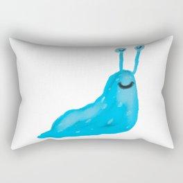 Blue Slug Rectangular Pillow