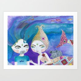 Two-getherness Art Print
