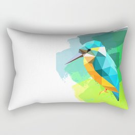 Kingfisher, Martin fisherman, minimalist print, color print, bird print, bird photo, tropical bird Rectangular Pillow