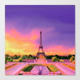 Parisian Sunrise Canvas Print