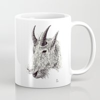 goat Mugs featuring Goat by Ursula Rodgers