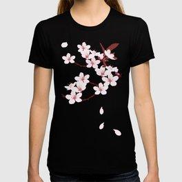 Sakura on red background T-shirt