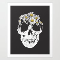 pushing daisies Art Prints featuring pushing daisies by campkatie