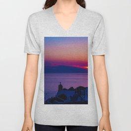 Oia  sunset Unisex V-Neck