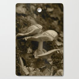 Tyrolean forest mushrooms, sepia photograph 2013 Cutting Board
