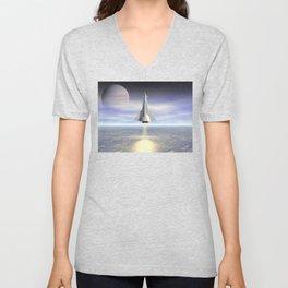 Rocket Launch Unisex V-Neck
