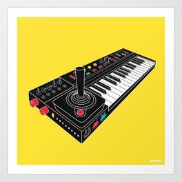 Circuit Bent Atari Keyboard Art Print