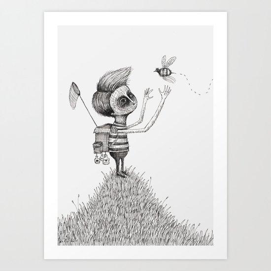'The Bug Collector' Art Print