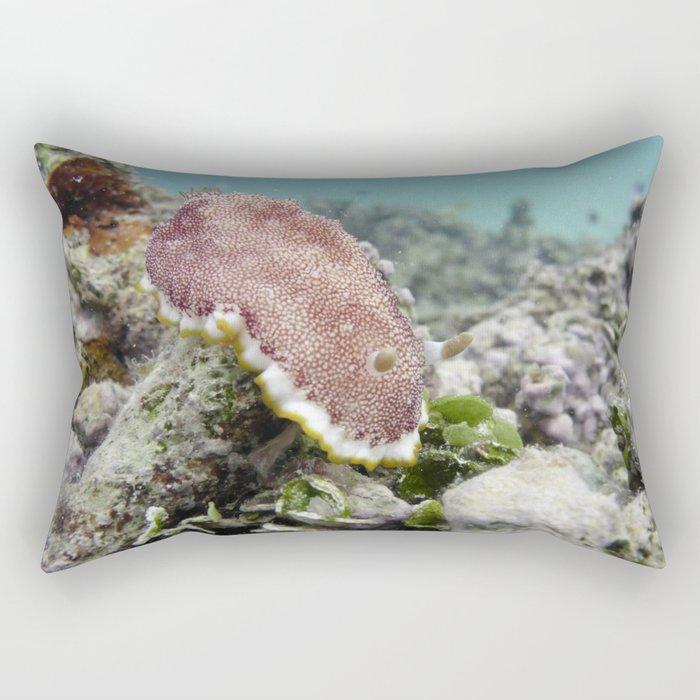 Red Nudibranch Rectangular Pillow