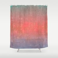 ombre Shower Curtains featuring Ombre by Kimpressions
