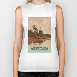 Grundy Lake Provincial Park Poster Biker Tank