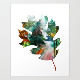 Autumn Leaf Art Art Print