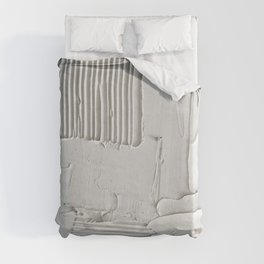 Relief [3]: an abstract, textured piece in white by Alyssa Hamilton Art  Duvet Cover