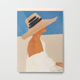 Summer Hat Metal Print