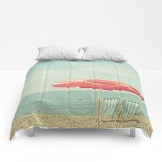 Deserted Beach Comforters