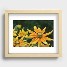Golden Yellow Recessed Framed Print