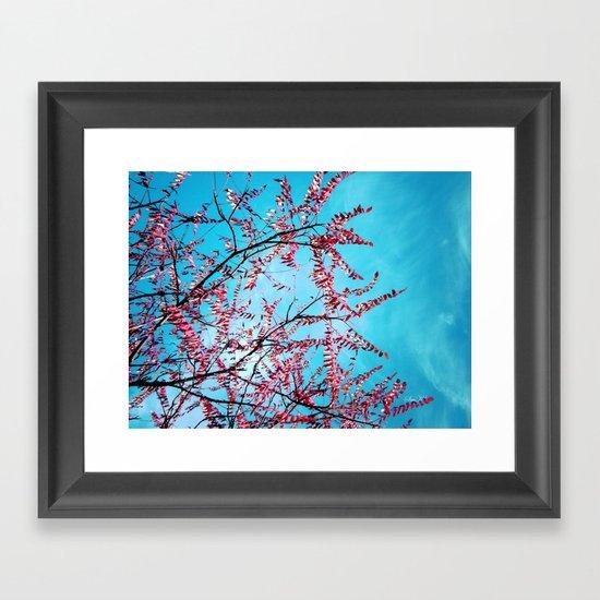 Cyan Sky Framed Art Print