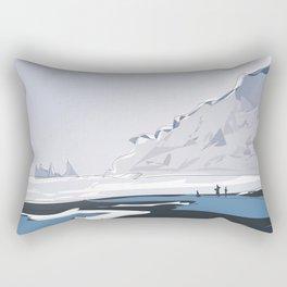 Vik Reynisfjara Black Sand Beach, Iceland Travel Poster Rectangular Pillow