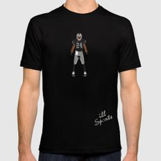 Silver and Black - Charles Woodson Mens Fitted Tee Black LARGE