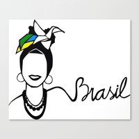 brasil Canvas Prints featuring Brasil by andiroses