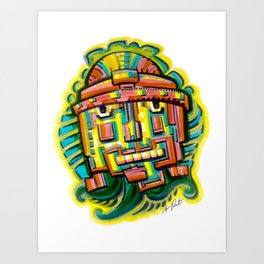 Robot from the Stars Art Print