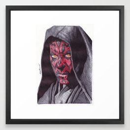 Darth Maul Pen Drawing Framed Art Print