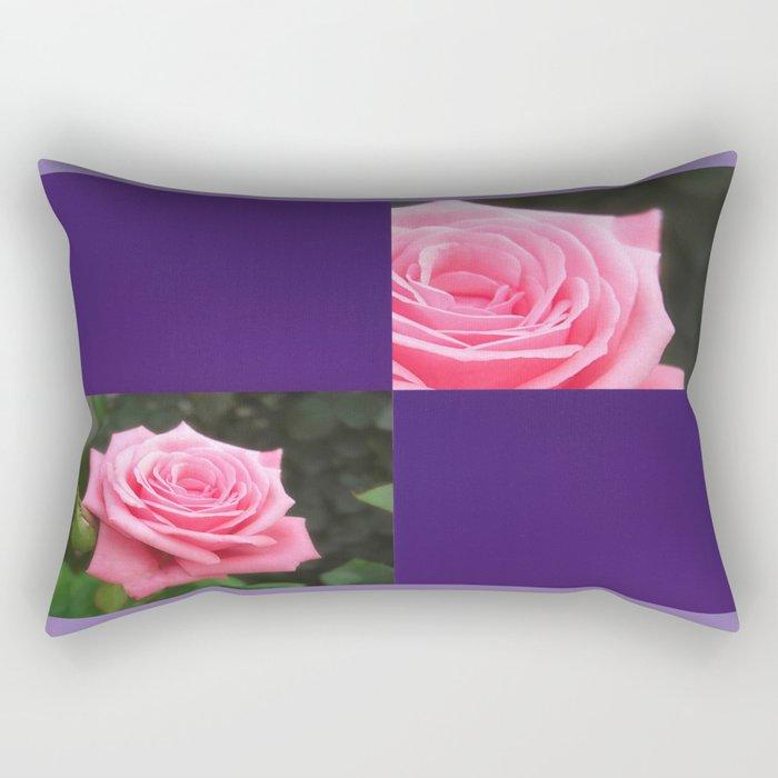 Pink Roses in Anzures 4 Blank Q9F0 Rectangular Pillow