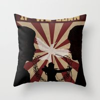 mockingjay Throw Pillows featuring Mockingjay by nellfoxface