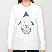 lion king Long Sleeve T-shirts featuring King Lion by Katell Desormeaux
