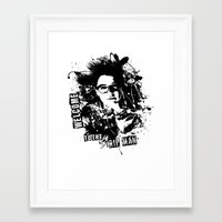orphan black Framed Art Prints featuring Orphan Black - Welcome to the Trip by Annabelle Pickering
