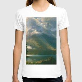 Scenery in the Grand Tetons by Albert Bierstadt T-shirt