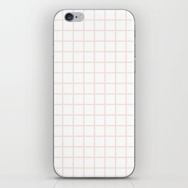 Champagne Pink Grid iPhone Skin