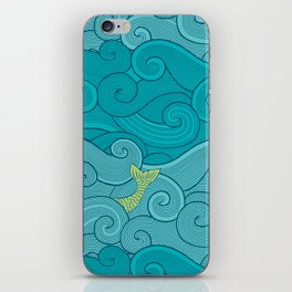 Surf Side - AQUA iPhone Skin