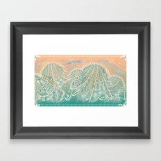 Breaking Free - Flux Fluidity Framed Art Print