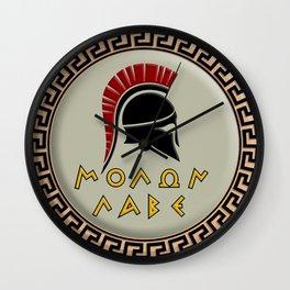 Molon Labe Spartan Wall Clock