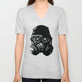 Gas mask skull Unisex V-Neck