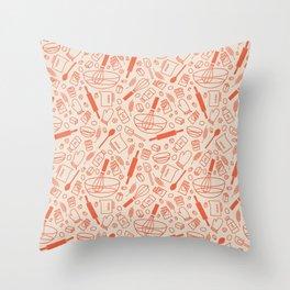 Baking Pattern Throw Pillow