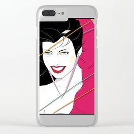 Pop Culture Design Clear iPhone Case