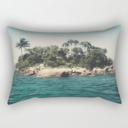 Lost Paradise Off the Coast of Ilha Grande, Brazil Rectangular Pillow